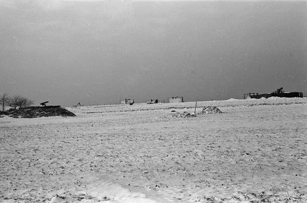 Flakstellung auf dem Feld zwischen Hutbergstraße und Rochwitzer Straße, um 1943. Foto: Sammlung Karl Richter